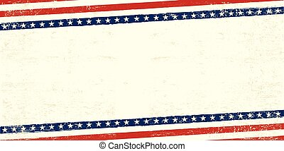 vieux, carte postale, américain
