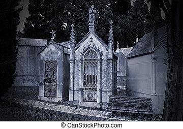 vieux, cimetière, européen