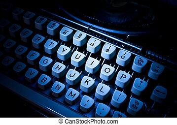 vieux, clés machine écrire