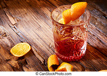 vieux, cocktail, façonné