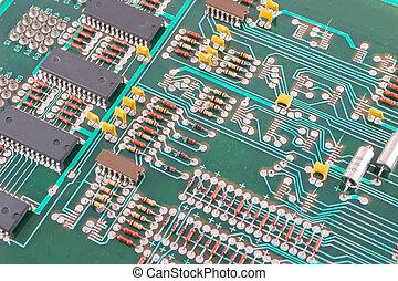 vieux, conseil électronique, circuit