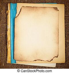 vieux, copy-book, vide