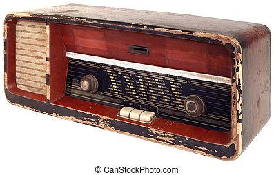 vieux, coupure, radio