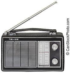 vieux, coupure, radio, portable