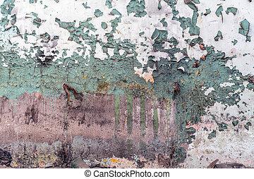 vieux, délabré, pelant coloriage, sale, mur