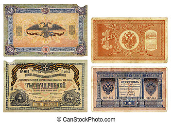 vieux, devise russe, rubles