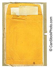 vieux, enveloppe, papiers
