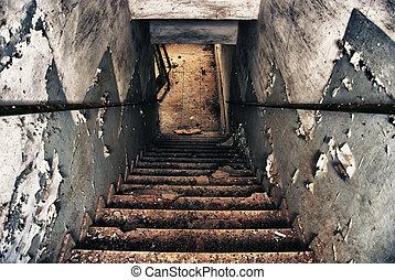 vieux, escalier