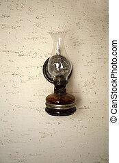 vieux façonné, lanterne
