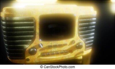 vieux façonné, retro, radio, vendange