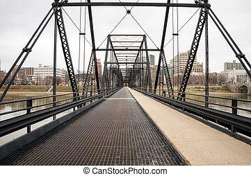 vieux, fer, pont