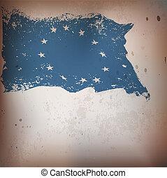 vieux, fond, drapeau syndicats, eu, textured