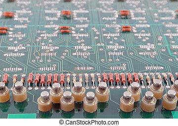 vieux, fond, résumé, circuit électronique, électronique