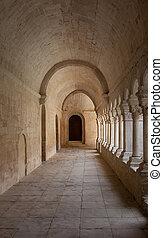 vieux, galère, abbaye