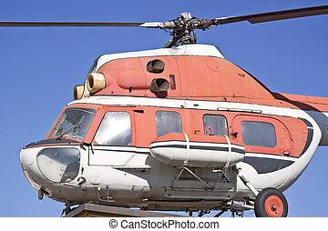 vieux, hélicoptère, -, mi, 2.