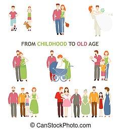 vieux, histoire, amour, jeune