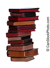 vieux, historique, livres, empilé