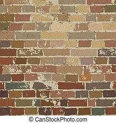 vieux, illustration, mur, pattern., vecteur, eps10, brique
