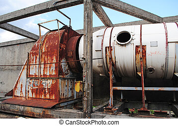 vieux, industriel, ventilation