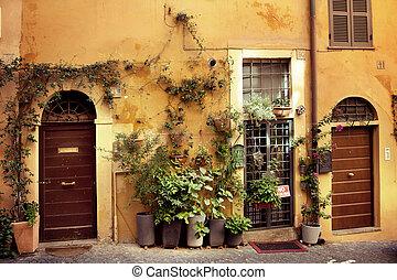 vieux, italien, rue