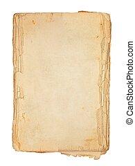 vieux, livre, pages