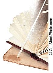 vieux livres, et, penne