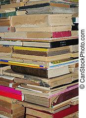 vieux livres, tas, fond