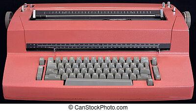 vieux, machine écrire électrique
