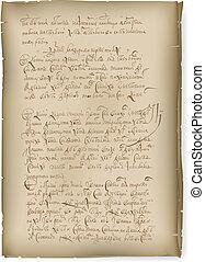 vieux, manuscrit