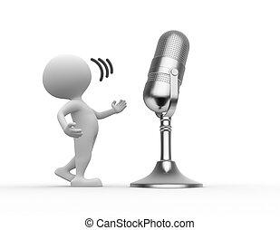 vieux, microphone