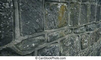 vieux, mur, a mûri, dépassement, pierre