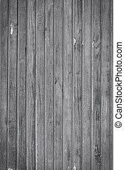 vieux, mur, bois, arrière-plan noir, blanc, planche
