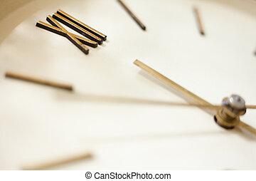 vieux, mur, figure, horloge