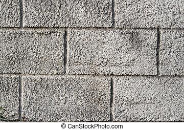 vieux, mur, texture, béton, grossier, toqué