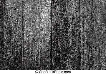 Vieux, (for, texture, bois, noir, background)