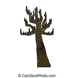 Vieux nu dessin anim arbre clipart vectoris - Dessin arbre nu ...