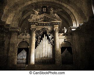 vieux, orgue