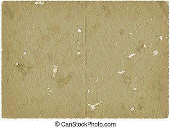 vieux, papier brun, parchemin