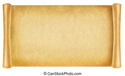 vieux, papier, texture.antique, fond, rouleau, pour, texte,...