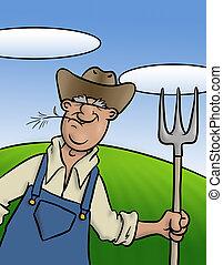 vieux, paysan