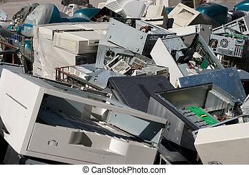 vieux, pcs, recyclage