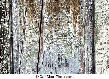 vieux, peint, affligé, bois, fond