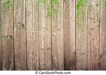 vieux, peint, clôture bois