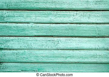 vieux, peint, texture, bois, arrière-plan vert, porte