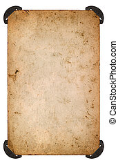 vieux, photo, papier, corner., feuille blanche, vieilli, carte
