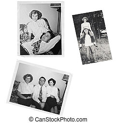 vieux, photos, collage