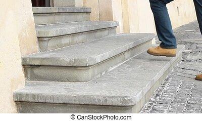 vieux, pierre, étapes, entrée