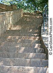 vieux, pierre, étapes
