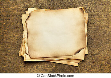 vieux, pile, papiers