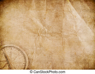 vieux, pirates, carte trésor